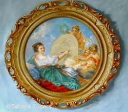 """Baroque Trompe l'Oeil frame. 35""""35"""". Available"""