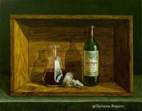 "Available. Trompe l'Oeil ""Great Petrus"" 22'x28"". $2,000"