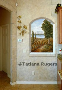 "Trompe l'Oeil ""window to Tuscany"". Private residence"