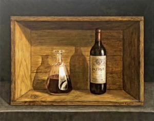 Sold. $1,200. Petrus 1947.Trompe l'Oeil.