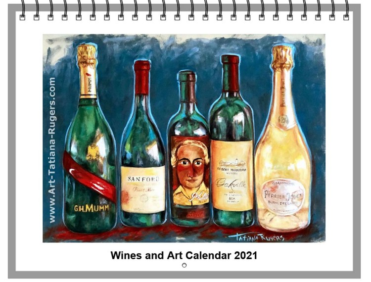 Wines and Art Calendar 2021. Available.