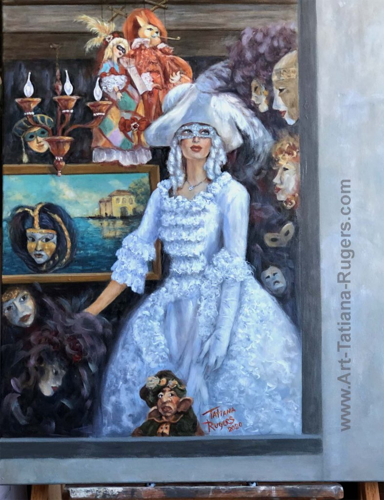"""Venice, Beauty & Masks"". Available. 30x24"" $3,400"